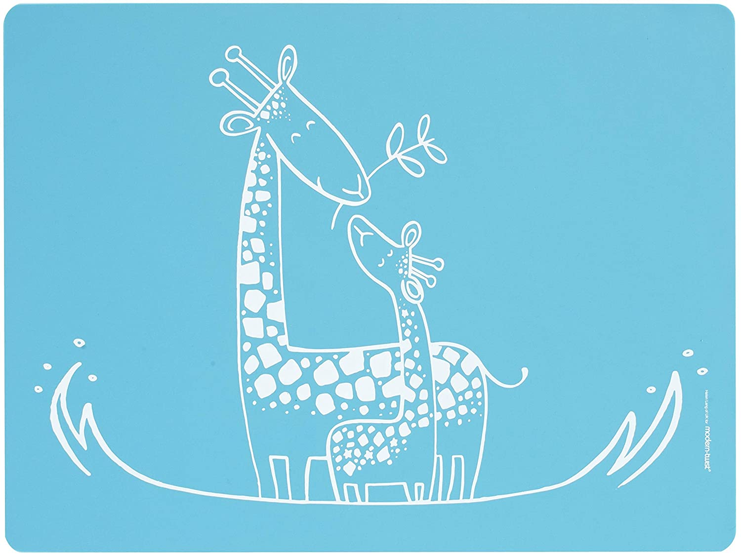 Amazon: Moderntwist Baby Mealmat Silicone Placemat, Giraffe Giggles,  Blue: Baby