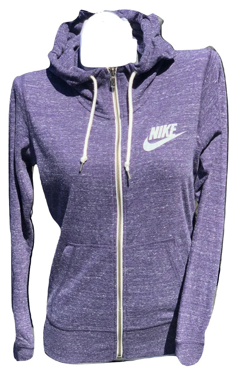 Nike Womens Gym Vintage Full Zip Hoodie Sweatshirt Heather Hasta Hoodie (X-Small)