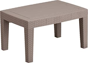 Flash Furniture Light Gray Faux Rattan Coffee Table