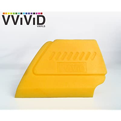 VViViD Yellow Fine-Edge Detailer Hand Tool for Vinyl Wraps & Decals Squeegee Applicator 2 Inch Contour Miniature Sealer (Single): Automotive