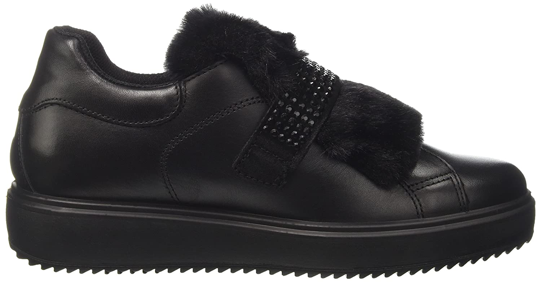 IGI&Co Damen Niedrige Dhn 8799 Niedrige Damen Sneaker Nero (Nero) 086706