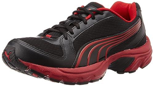 9c40704c24d798 Puma Men s Brent DP Black High Risk Red and Hawaiian Ocean Mesh Running  Shoes -