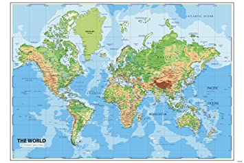 Walls And Murals World Map Wall Poster Peel And Stick World Map