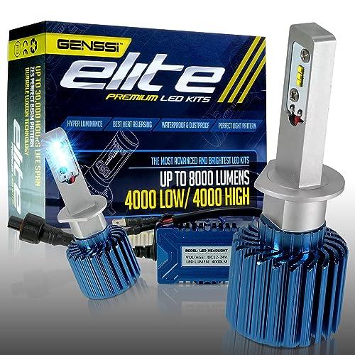 GENSSI Elite LED Headlight Bulbs Kit 6000K Super White Conversion