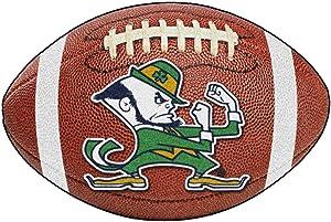 FANMATS NCAA Notre Dame Fighting Irish Nylon Face Football Rug