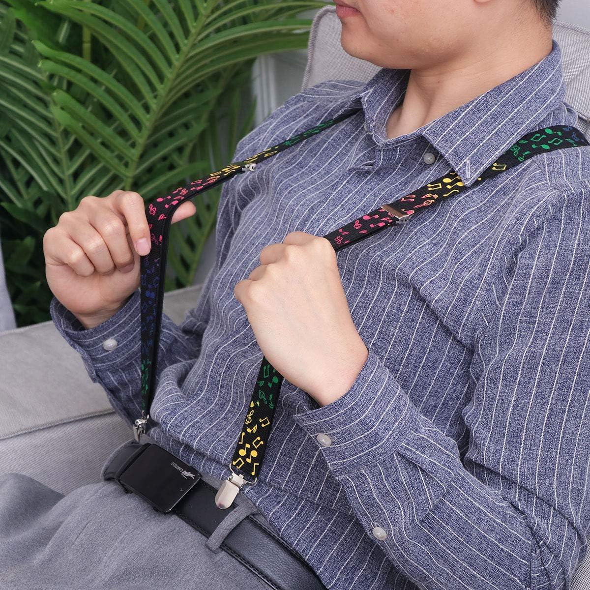 Women Men Suspenders Adjustable Braces Y-Shape Clip-on Safety Lock Accessories