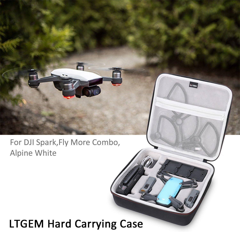 LTGEM Hard Case Carry Bag for DJI Spark Fly More Combo Kit.