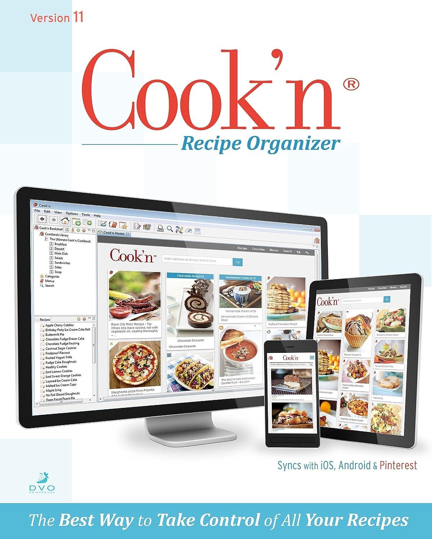 amazon com cook n recipe organizer version 11 pc download software