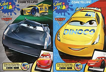 - Amazon.com: Disney Pixar - Cars 3 - Color And Play Coloring And Activity  Book - (Set Of 2 Books) V2: Toys & Games