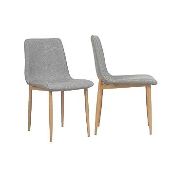By Demeyere Sophie - Juego de 2 sillas de Comedor Modernas de Tela ...