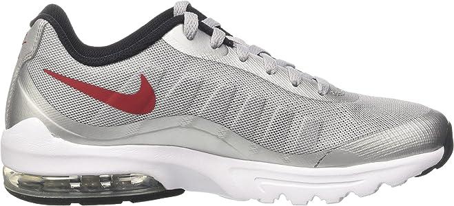 Nike Air MAX Invigor, Zapatillas de Running para Hombre, Gris (Wolf Grey/Varsity Red/Black/White), 40.5 EU: Amazon.es: Zapatos y complementos