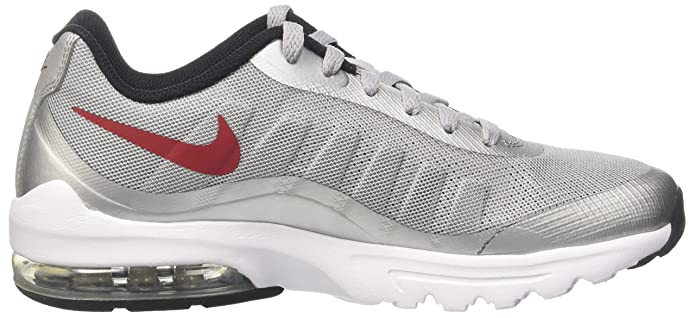 Amazon.com | Nike Air Max Invigor Wolf Grey /Varsity Red-Black | Road Running