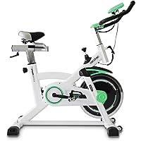 Cecotec Bicicleta de Spinning Extreme Uso Profesional. Pulsómetro. Pantalla LCD, Resistencia Variable. Estabilizadores. SilenceFit. Completamente Regulable.