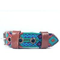 CH Collar artesanal chico para perro, hecho en Chiapas, México