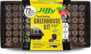 Jiffy 36mm Biodegradable Peat Pellet Greenhouse with Bonus SUPERthrive Sample & Plant Markers