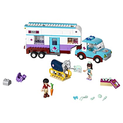 LEGO 41125 Horse Vet Trailer Building Kit, (370 Piece)