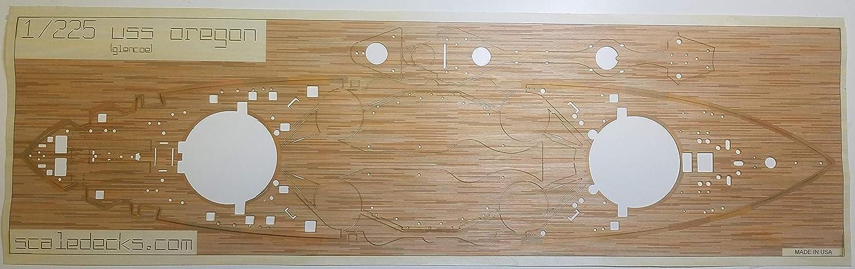 Amazon.com: Cubierta de madera premium para 1/225 USS Oregon ...