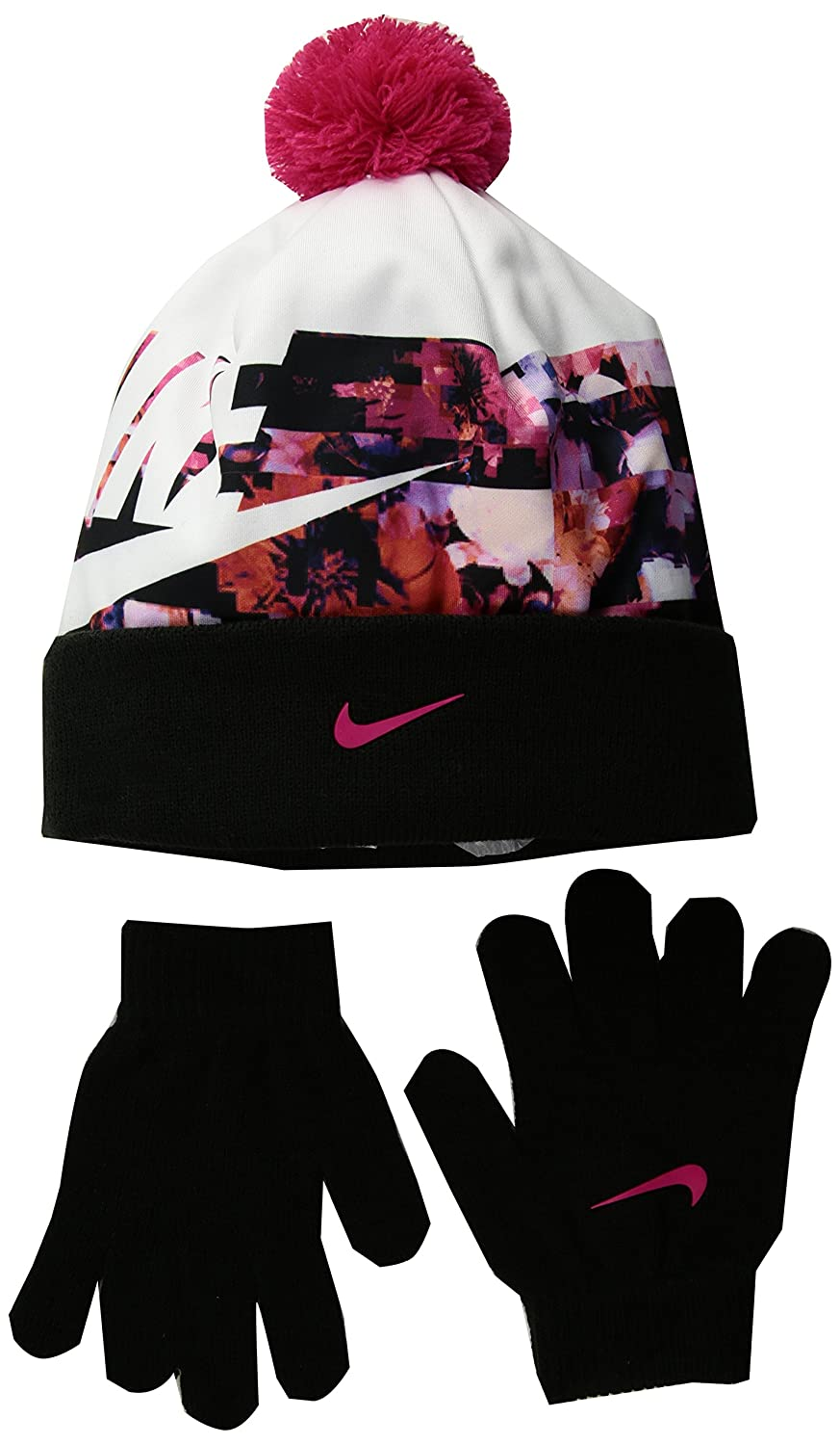 online store b9142 33d70 Nike Big Girls  Beanie   Gloves Set (One Size) - Rush Pink, 7-16   Amazon.ca  Clothing   Accessories