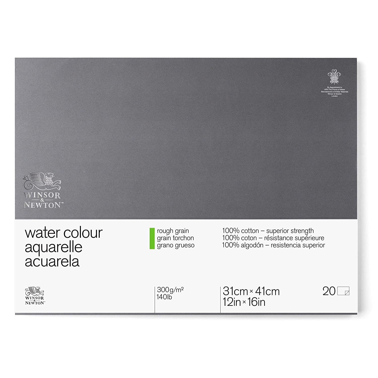 Winsor /& Newton Professional Watercolor Paper Block 10x14 Hot Pressed 140lb