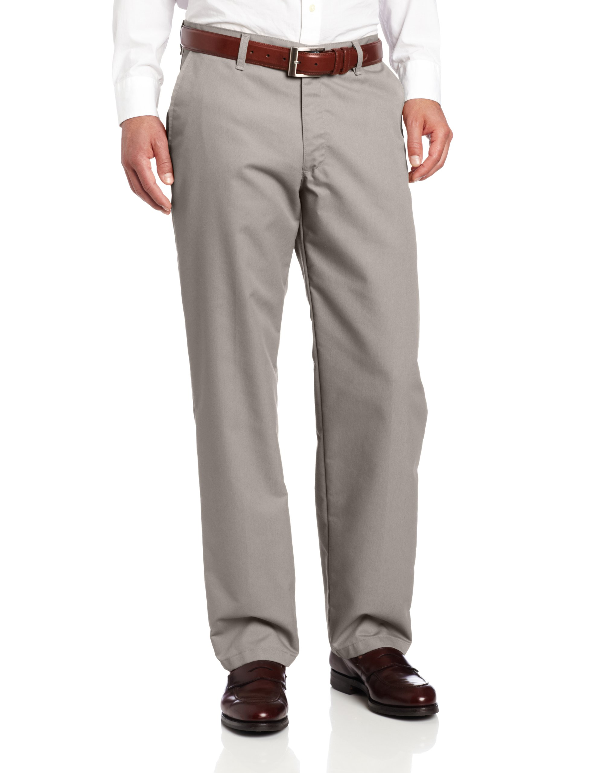 Lee Men's Total Freedom Relaxed Fit Flat Front Pant - 42W x 34L - Gray