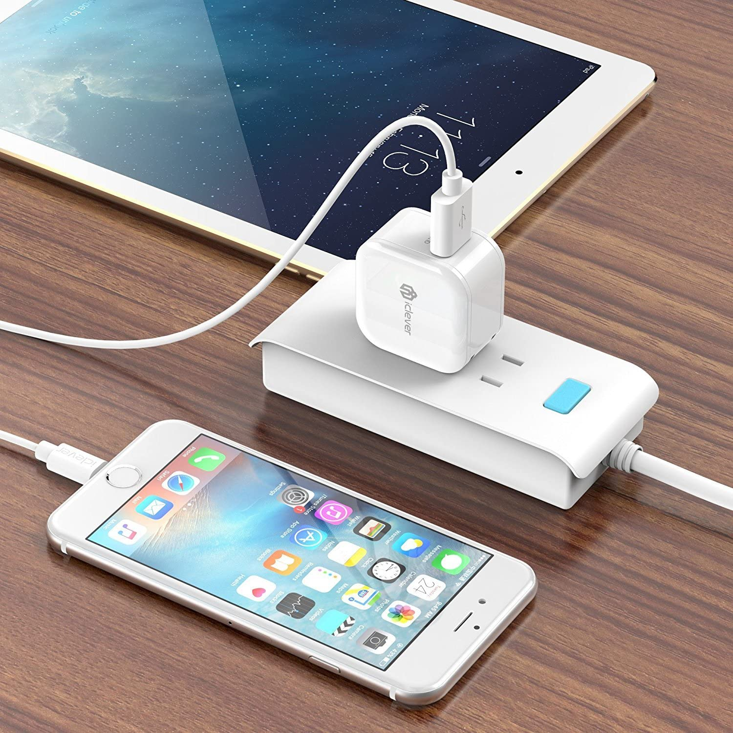 iClever BoostCube IC-TC05 2-Pack 12W USB Wall Charger with Foldable Plug for iPhone 7 // 6S // 6 // Plus iPad Air 2 // mini 3 White Note 5 and More Galaxy S7 // S6 // S6 Edge//Edge+