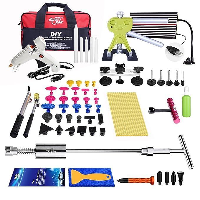 Kit de herramientas de reparación de abolladuras Autopdr®, 65 unidades, para carrocería del coche, daños por granizo, daños de puerta, martillo elevador, ...