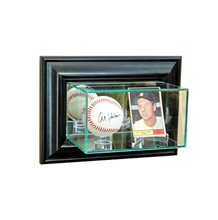 Perfect Cases Mlb Wall Mounted Card And Baseball Glass Display Case