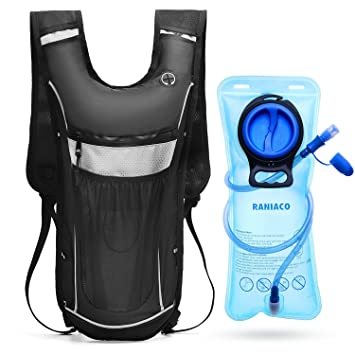 RANIACO Mochila de hidratación, Pack de hidratación para Correr con 2 l de Bolsa de Agua para Ciclismo, Camping, Senderismo, Escalada: Amazon.es: Deportes y ...