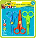 Crayola Mini Kids - 3 Safety scissors - stationery & craft scissors (Serrated cut, Wave cut, Set, Multicolour, Plastic, Plastic, Ambidextrous)