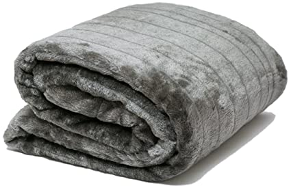 Mantas de Cama y Colchas de Sofa Mantas Piel Sintética y reverso de forro polar +