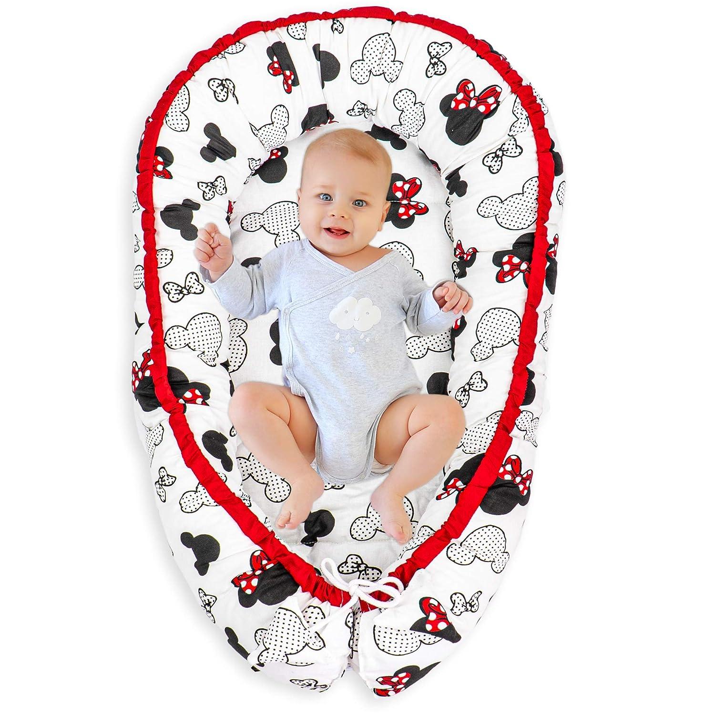 Multifunktionales Babynestchen f/ür Babys Kuschelnest 2-seitig Kokon Baby-Reisebett Wickelauflage Babynest Kuschelbett Muster Glatt Kleine Sterne 100