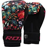 RDX Women Boxing Gloves for Training Muay Thai Flora Skin Ladies Mitts for Sparring, Fighting Kickboxing Good for Punch Bag,