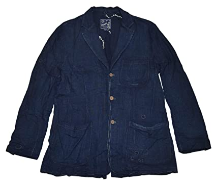 2ad2a89d Image Unavailable. Image not available for. Color: Ralph Lauren RRL Mens Western  Patchwork Soft Denim ...