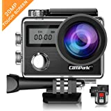 Action Camera Campark X20 4K 20MP Touch Screen Waterproof Video Cam Underwater Camcorder with EIS, Dual Screen, Remote Control Update Version