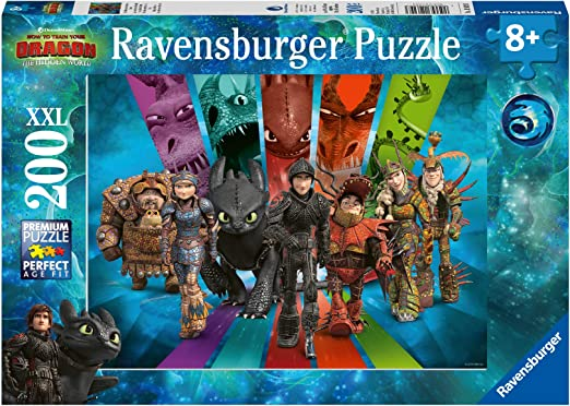 10549 100 Pi/èces XXL Krokmou Et Ses Amis Puzzle Enfant Classique Dragons Ravensburger