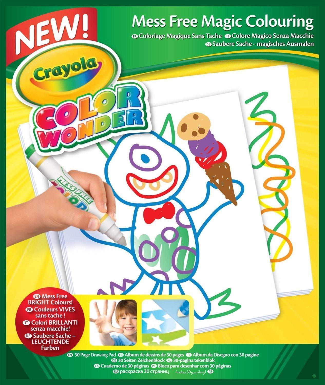 amazon com crayola color wonder disney preschool coloring pad