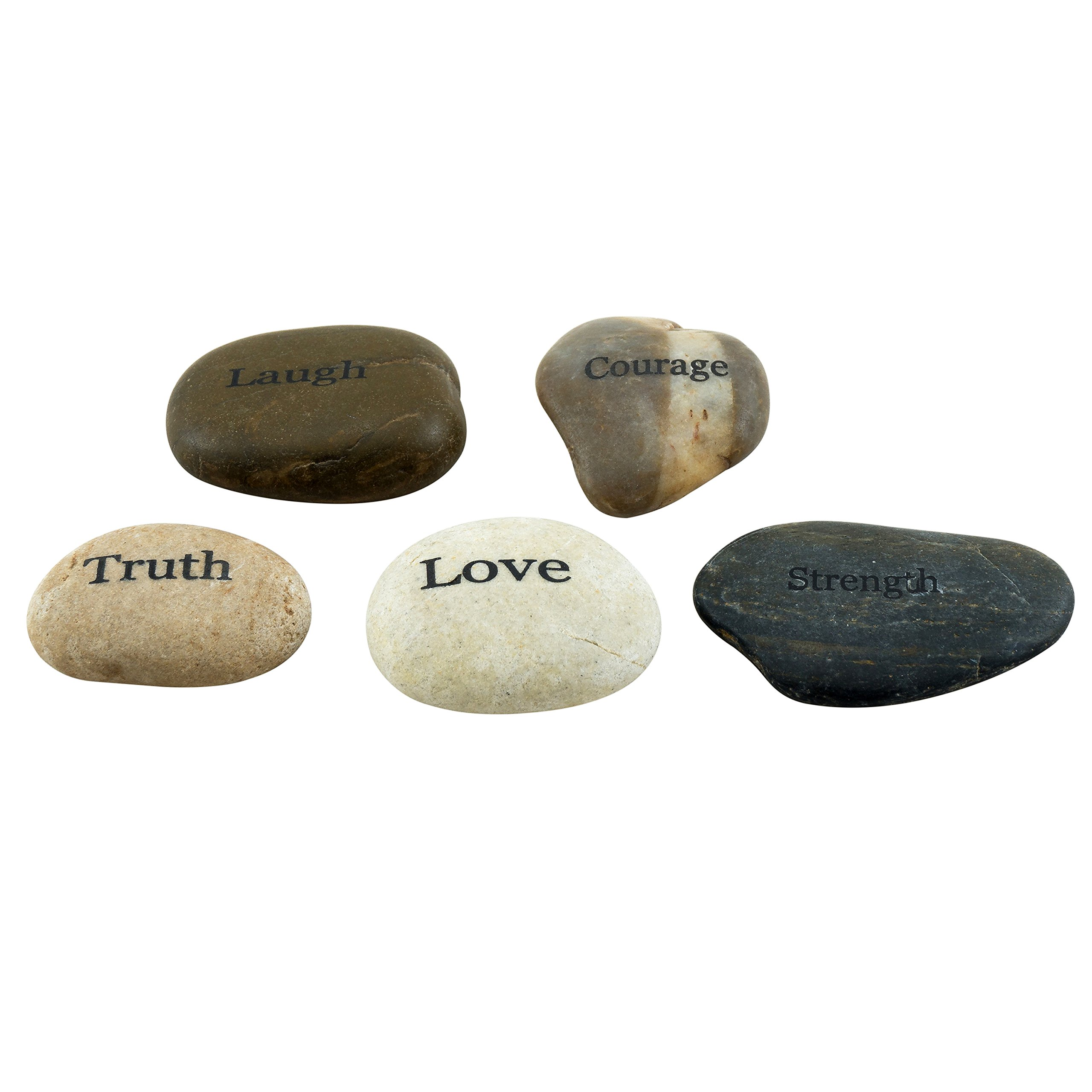 Stonebriar 5pc Engraved Inspirational Stones, Gift Ideas Every Friend Will Love