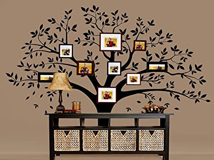 Large Family Tree Photo Frames Wall Decal Vinyl Wall Stickers For