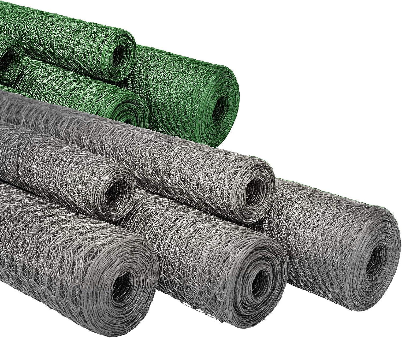para jard/ín, balc/ón y animales peque/ños | Malla 13/y 25/mm | o Galvanizado verde revestimiento | muchos tama/ños Cercado Seis esquina alambre