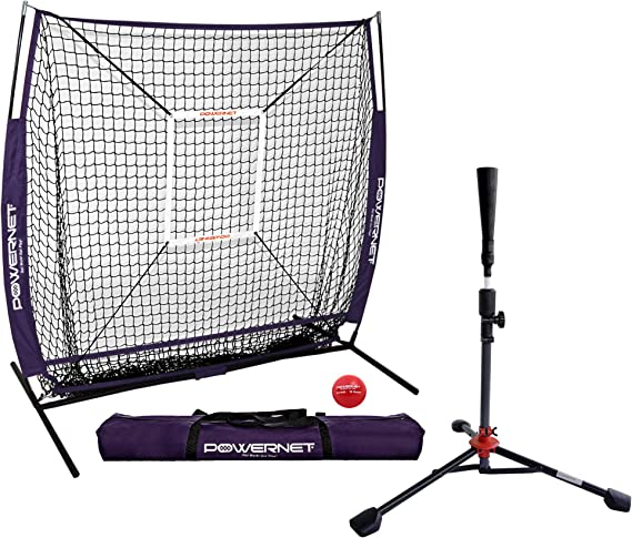 Rsenio Baseball Practice Net Portable 5/'x5/' Softball Batting Training EZ Setup