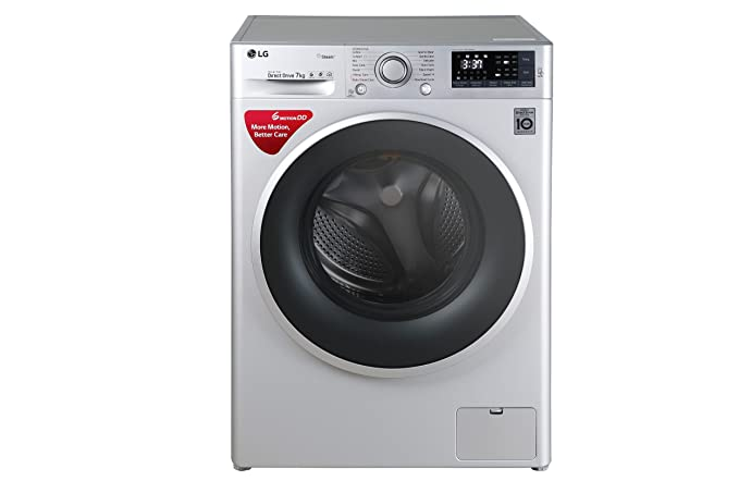 LG 7 kg Fully-Automatic Front Loading Washing Machine (FHT1207SWL.ALSPEIL, Luxury Silver)