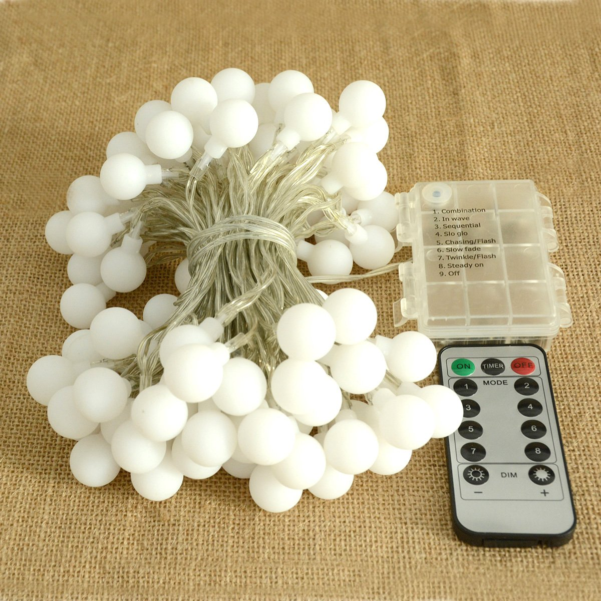 100 LED Warm White Globe String Lights Outdoor Remote /& Timer Waterproof Battery Powered LED Starry Light Fairy Light for Patio Umbrella Garden Party Xmas Tree Wedding Decoration Abkshine
