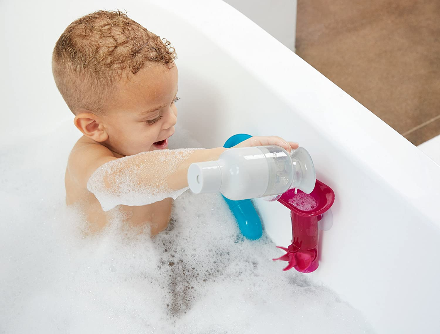 Boon Tubes Builder Bath Toys Set, Pack of 3