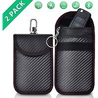 2 Pack Faraday Bag | Car Key Signal Blocking Pouch | Keyless Entry Car Keys Case | RFID Blocker Bag for Car Security