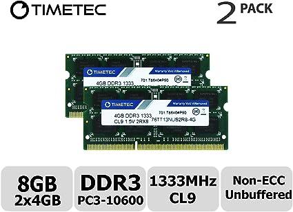 Corsair RAM 8GB DDR3-1333MHz SODIMM PC3-10600 1.5v CL9 204-Pin Laptop Memory