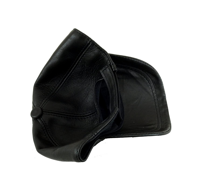 Ha Gs Adjustable Genuine Leather Baseball Cap