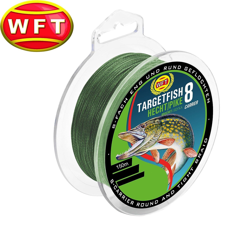 WFT TF8 Hecht Green 150 m - Hecht Cordón para Pesca, Spinning ...