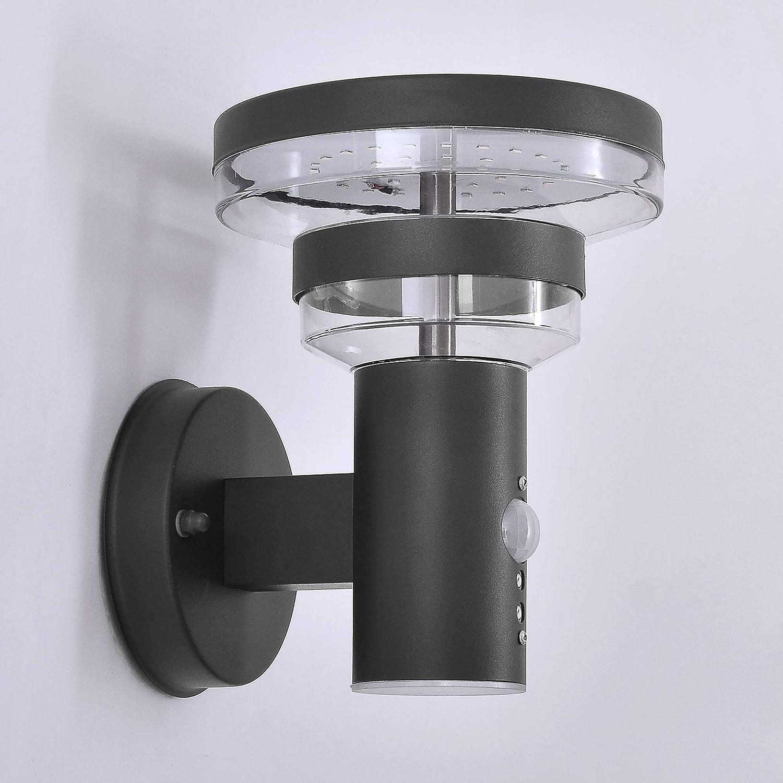 LED Aussenleuchten mit Bewegungsmelder Wand-leuchte Wandlampe Flurleuchte Fluter 9W Edelstahl modern IP54 313A1