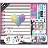 me & my BIG ideas The Happy Planner Box Kit - Rainbow Foil Theme - 12 Month Undated - Horizontal Layout - 3 Sheets of…