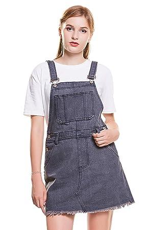 vente en magasin vente pas cher divers styles Femme Denim Jumpsuit Overall Salopette Jeans Jupe à ...